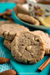 Lemon Almond Tea Cookies - A Family Feast