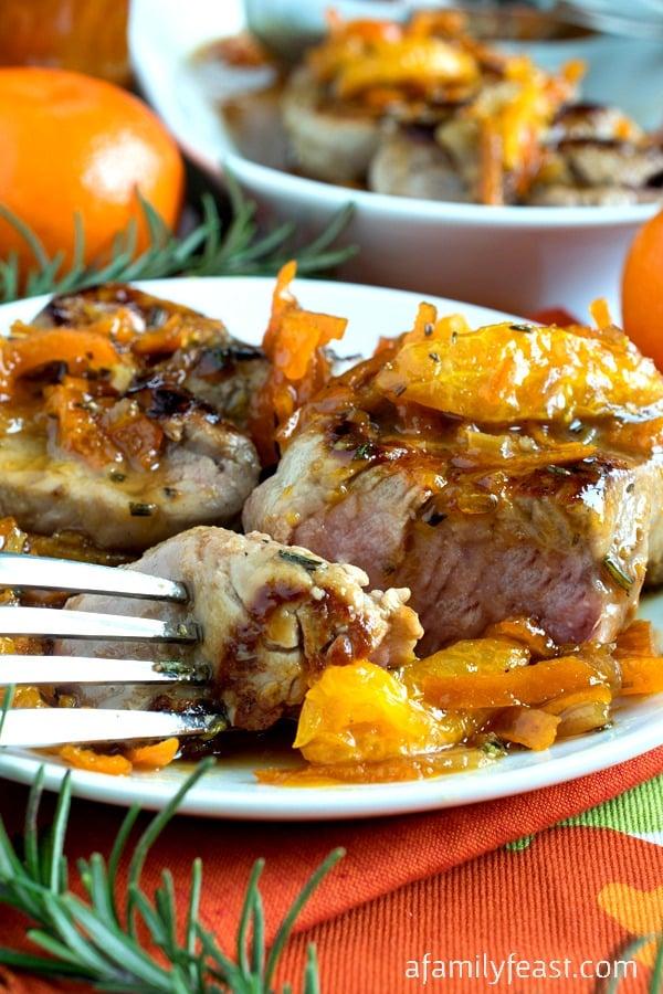 Mandarin Pork Tenderloin Medallions - A Family Feast