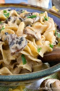 Noodles Romanoff with Mushrooms - A Family Feast