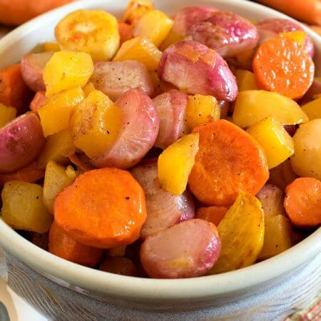 Roasted Radishes and Root Vegetables - A Family Feast