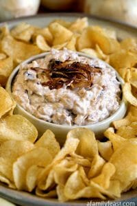Caramelized Onion Dip - A Family Feast
