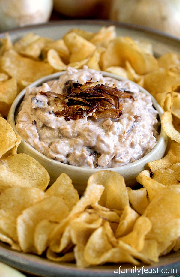 Caramelized Onion Dip - You'll never use a mix again once you make this homemade onion dip!