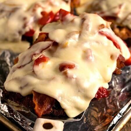 Chicken Pepper Bacon Melts - A Family Feast