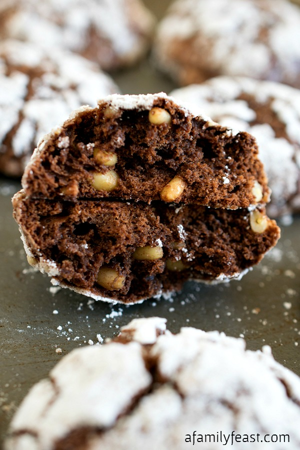Chocolate Malted Crinkles - A Family Feast
