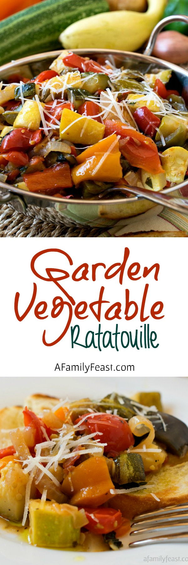 Garden Vegetable Ratatouille - A delicious way to eat your veggies all year round - and especially when garden vegetables are in peak season!