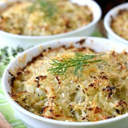 Roasted Fennel and Onion Gratinati - A Family Feast