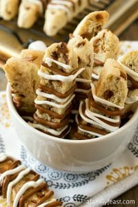 Cinnamon Chip Biscotti - A Family Feast