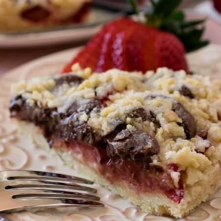 Strawberry Nutella Crumb Torte - A Family Feast