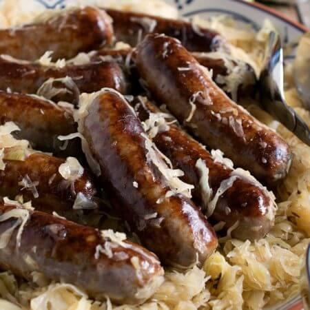Bratwurst and Sauerkraut - A Family Feast