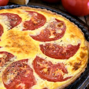Tomato Tart with Smoked Gruyère and Cracked Black Pepper - A Family Feast