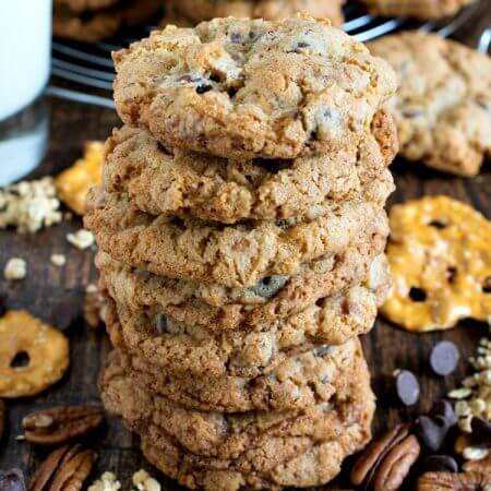 Crunchie Munchie Cookies - A Family Feast