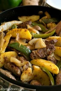 Easy Italian Sausage and Potato Skillet - A Family Feast