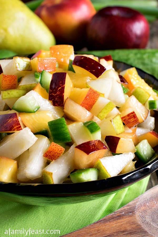Fruit and Cucumber Salsa - A Family Feast
