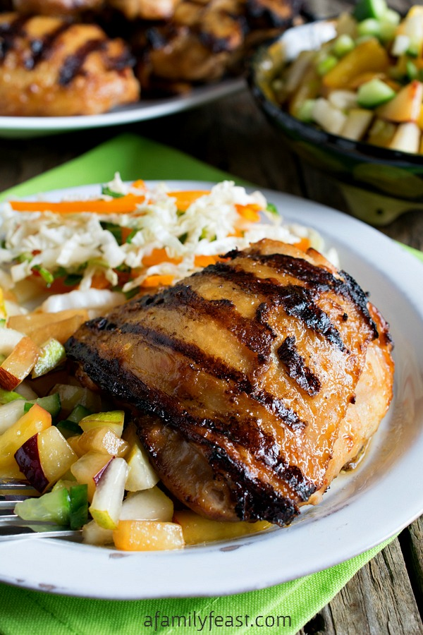 Peanut Ginger Chicken - A delicious change to the same 'ol grilled chicken!