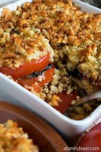 Tomato Portabello Gratin - A Family Feast