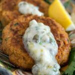 Whole30 Salmon Cakes with Tartar Sauce