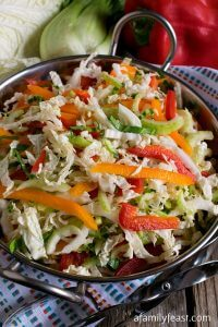 Easy Napa Cabbage Slaw - A Family Feast