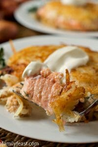 Hash Brown Crusted Salmon - A Family Feast