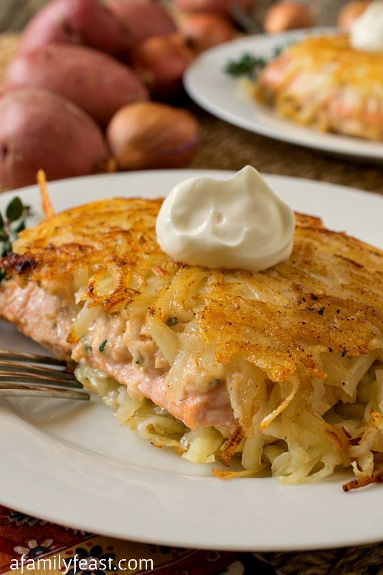 Hash Brown Crusted Salmon A Family Feast