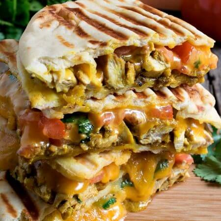 Butter Chicken Panini - A Family Feast