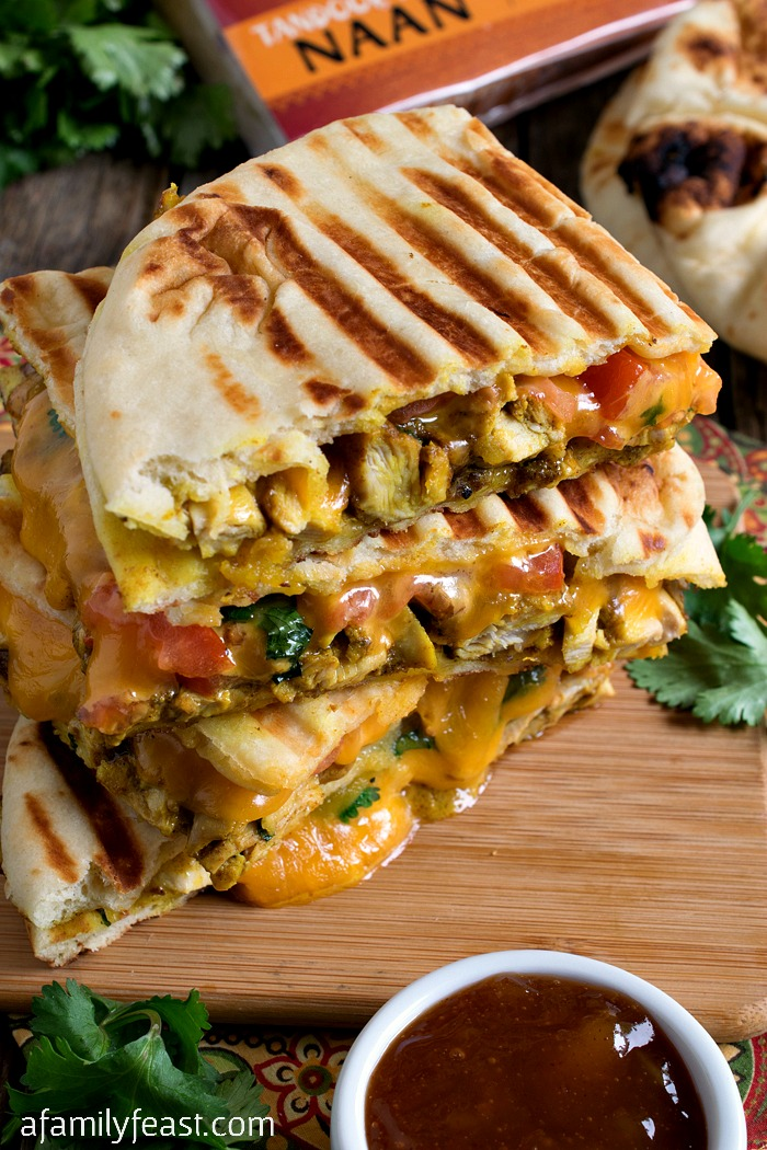 Butter Chicken Panini - This classic Indian dish reimagined as a delicious panini!