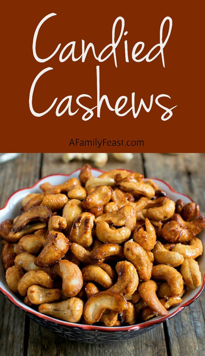 Candied Cashews - Addictively delicious, these salty-sweet nuts are delicious on salads, desserts or a snack.