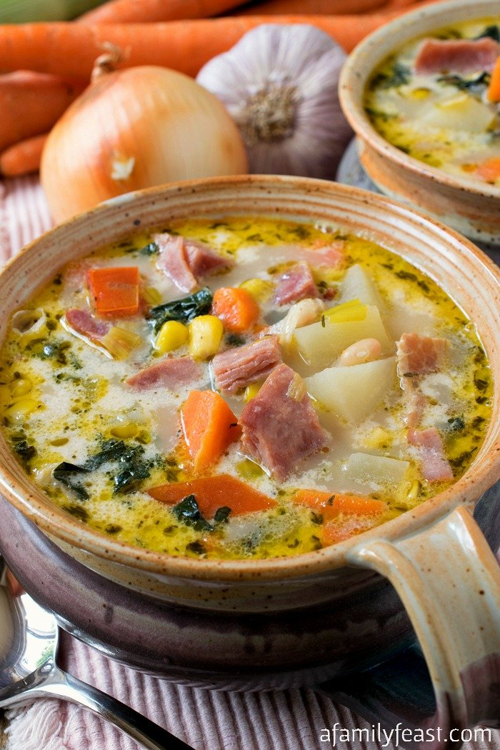 Ham and Vegetable Soup - A Family Feast