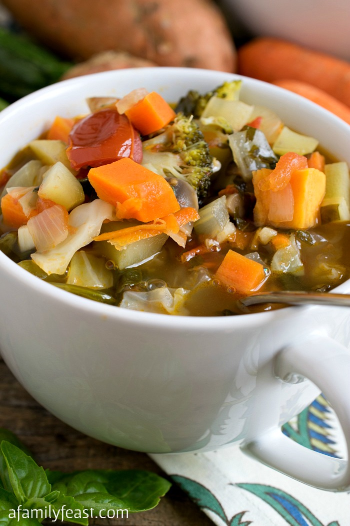 Prepared Meals Delivered >> Hearty Vegetable Soup - A Family Feast®
