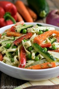 Fresh Vegetable Pasta Salad - A Family Feast