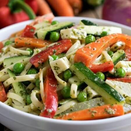 Fresh Vegetable Pasta Salad - A Family Feast