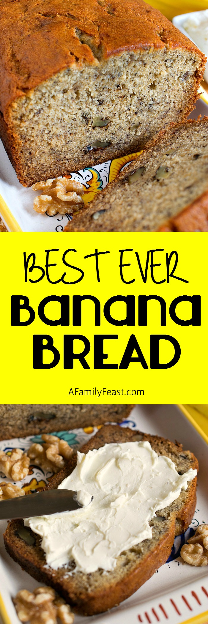 Best Ever Banana Bread - This really is the best ever! Moist, dense and full of banana flavor!
