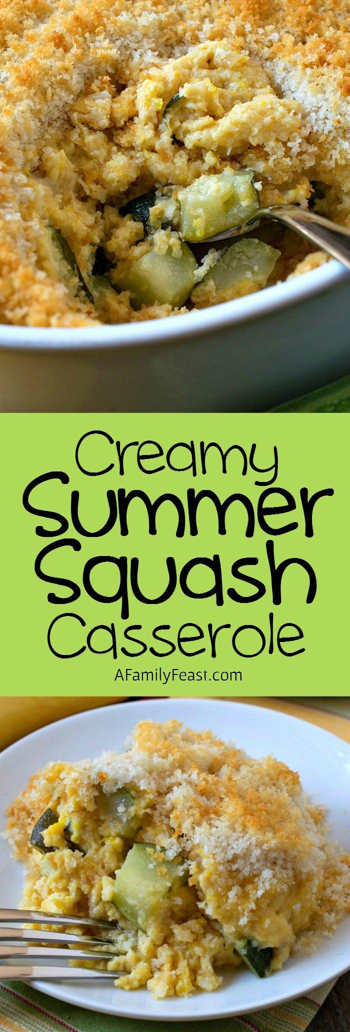 Creamy Summer Squash Casserole A Family Feast 174