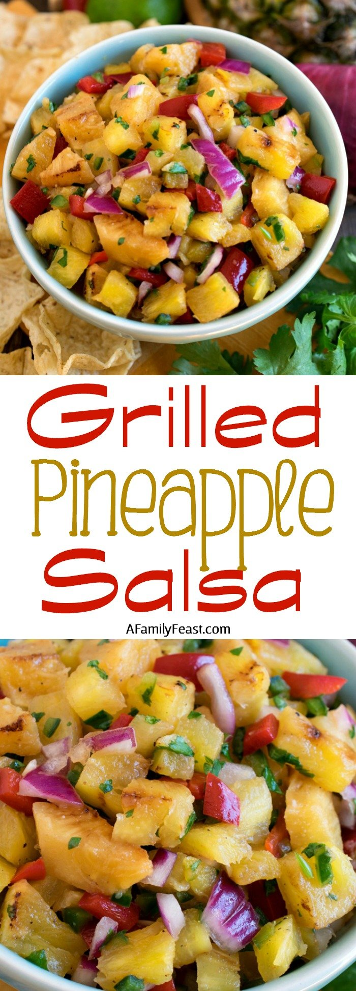 Grilled Pineapple Salsa - This easy salsa has fantastic flavor!