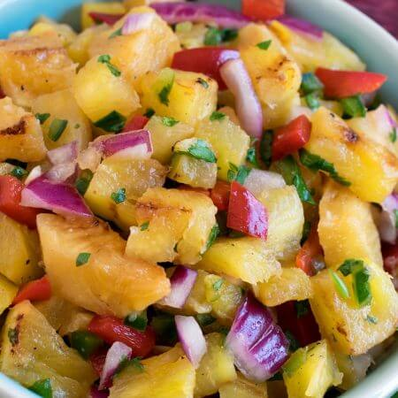 Grilled Pineapple Salsa - A Family Feast