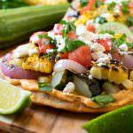 Grilled Vegetable Tostadas