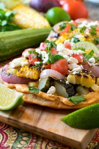 Grilled Vegetable Tostadas - A Family Feast