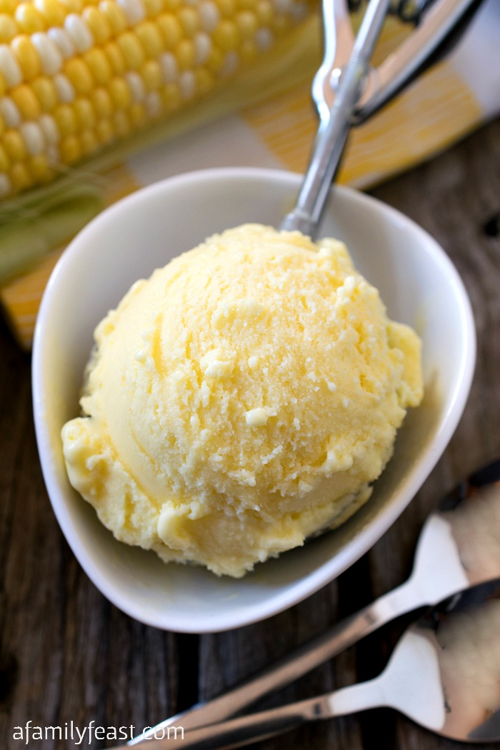 Sweet Corn Gelato - Adapted from a recipe by Mario Batali, this sweet corn gelato is a delicious taste of summer!
