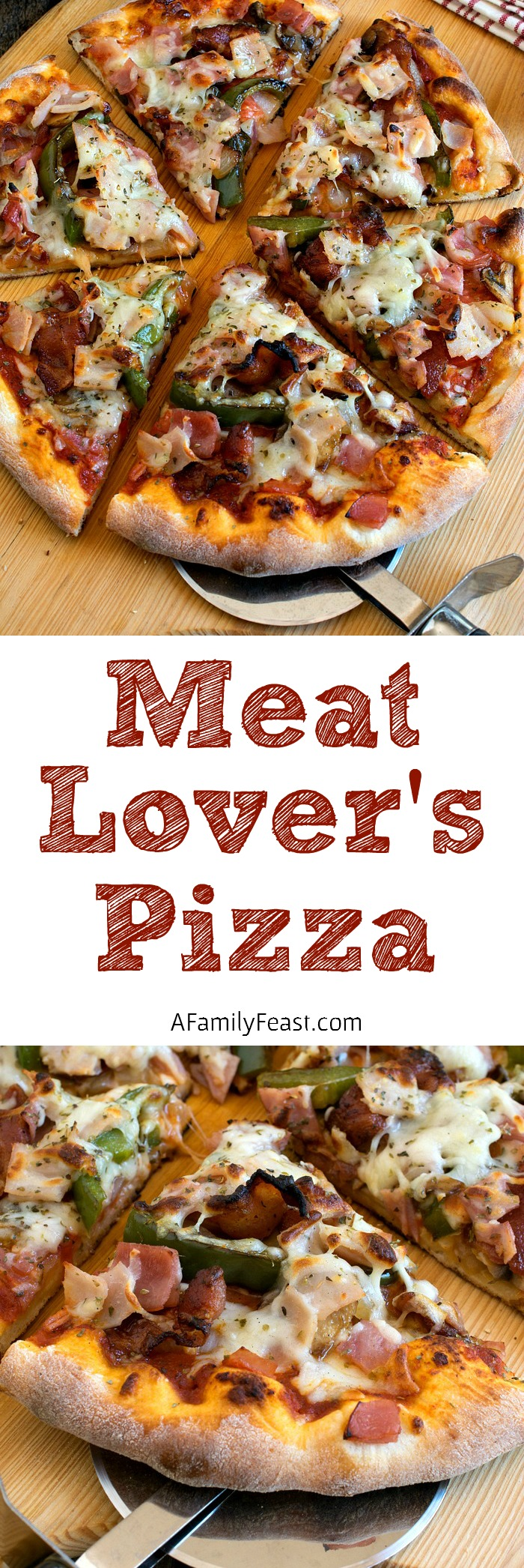 This Easy Meat Lover's Pizza is proof positive that you can still enjoy a delicious pizza night at home even if you're making an effort to eat a cleaner diet.