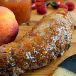 Peppery Peach Glazed Pork Tenderloin