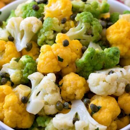Tri-Color Cauliflower Salad - A Family Feast