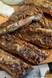 White Barbecue Sauce Pork Ribs - A Family Feast