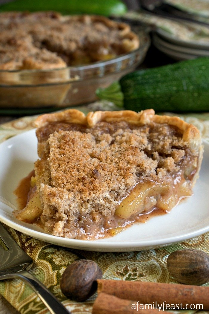 Your family will never guess that this delicious Mock Apple Crumb Pie is made with slices of zucchini instead of apples! Great for cooking with those huge garden zucchini.