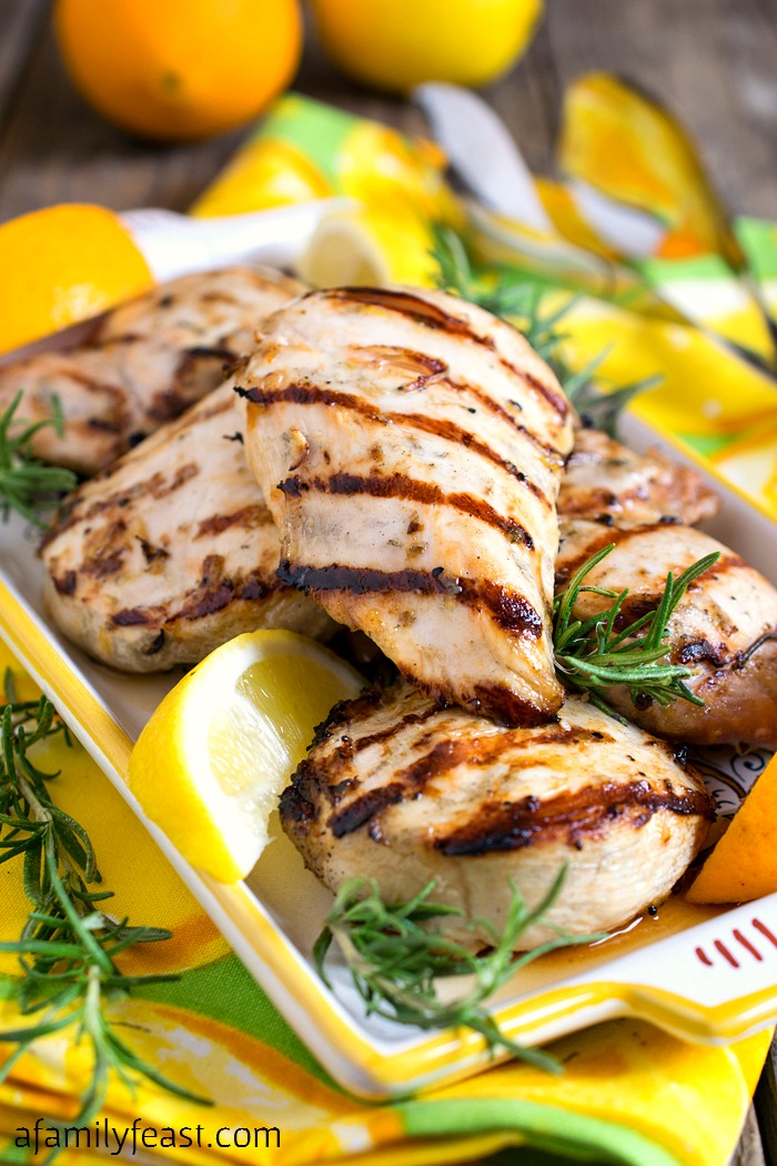 Citrus Grilled Chicken - Just a few simple, fresh ingredients gives this grilled chicken fantastic flavor!