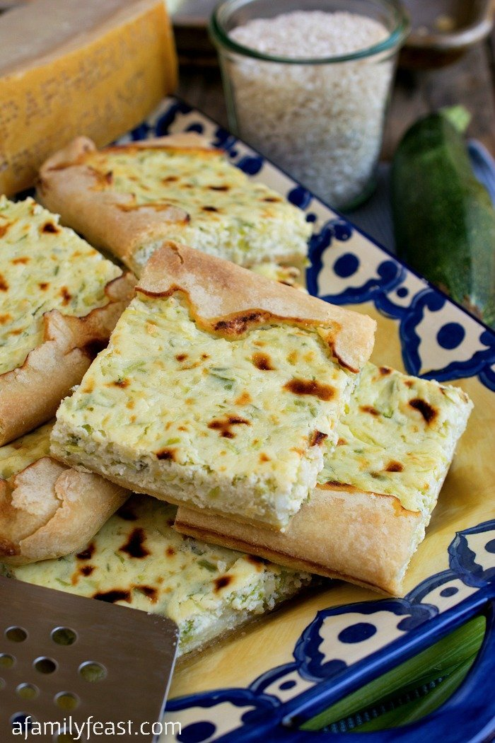 Rice and Zucchini Crostata - This recipe from Lidia Bastianich is a fantastic way to cook with fresh garden zucchini!
