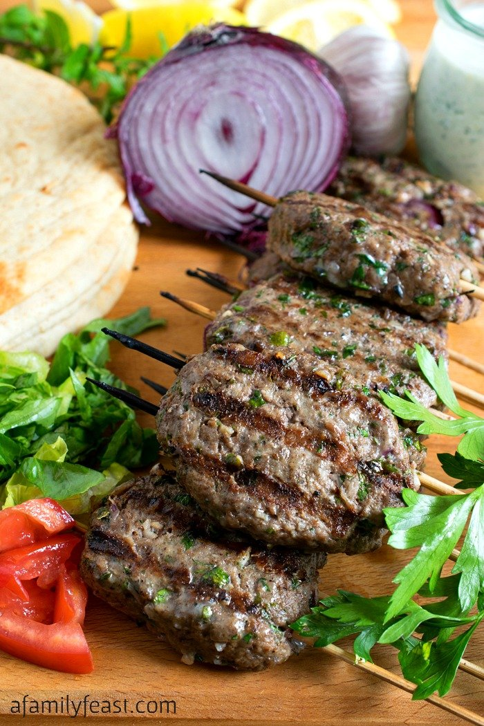 Kofta - A super flavorful alternative for your next summer cookout. The grilled meat skewers are fantastic!
