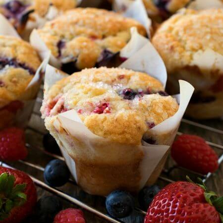 Mixed Berry Muffins - A Family Feast