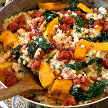 Fire Roasted Tomato and Barley Risotto - A Family Feast