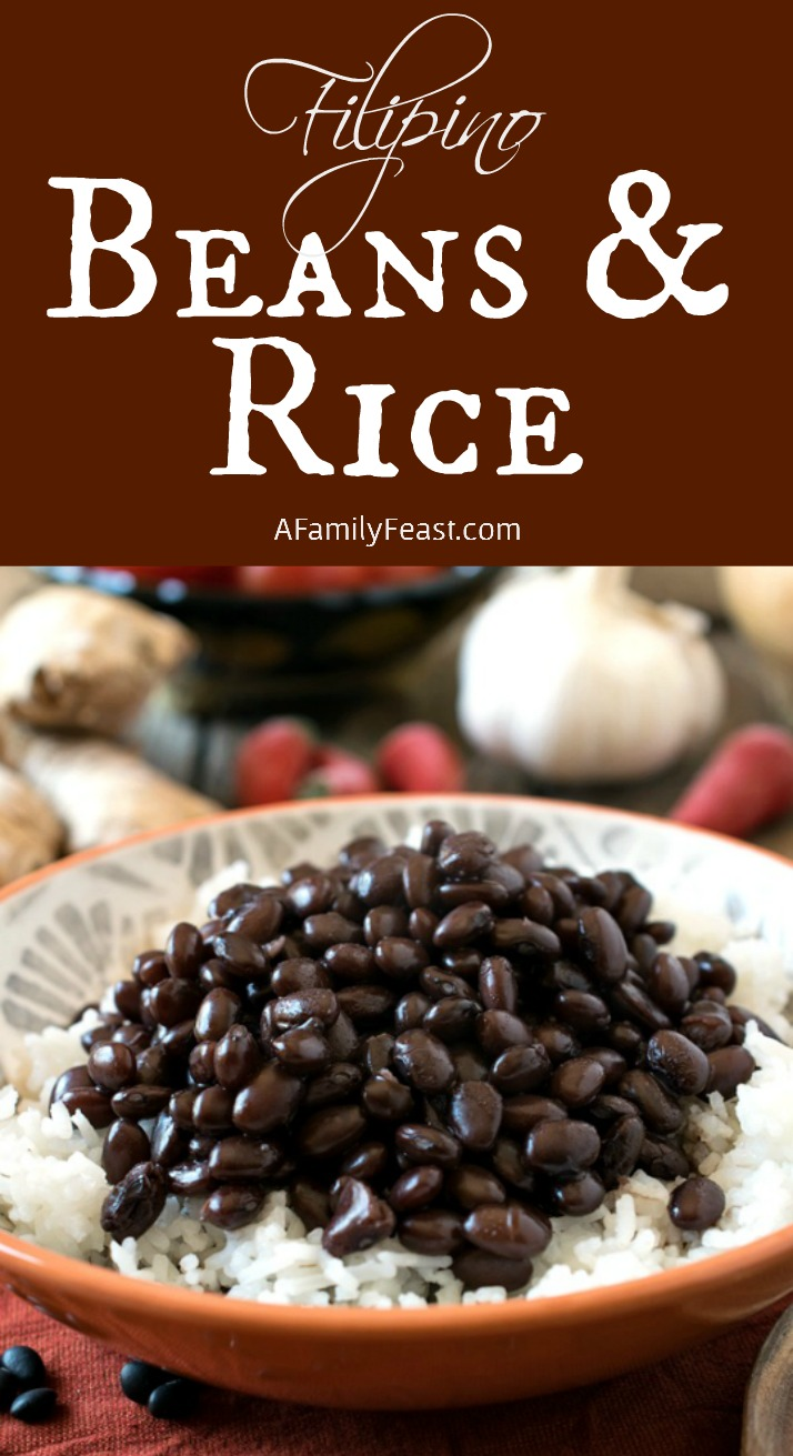 Filipino Beans and Rice - A simple side dish full of fantastic flavor!
