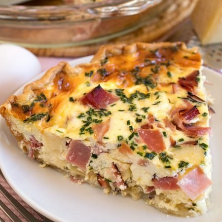 Ham and Swiss Quiche - A Family Feast