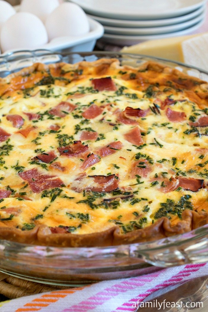 Ham and swiss quiche a family feast for The best quiche ever
